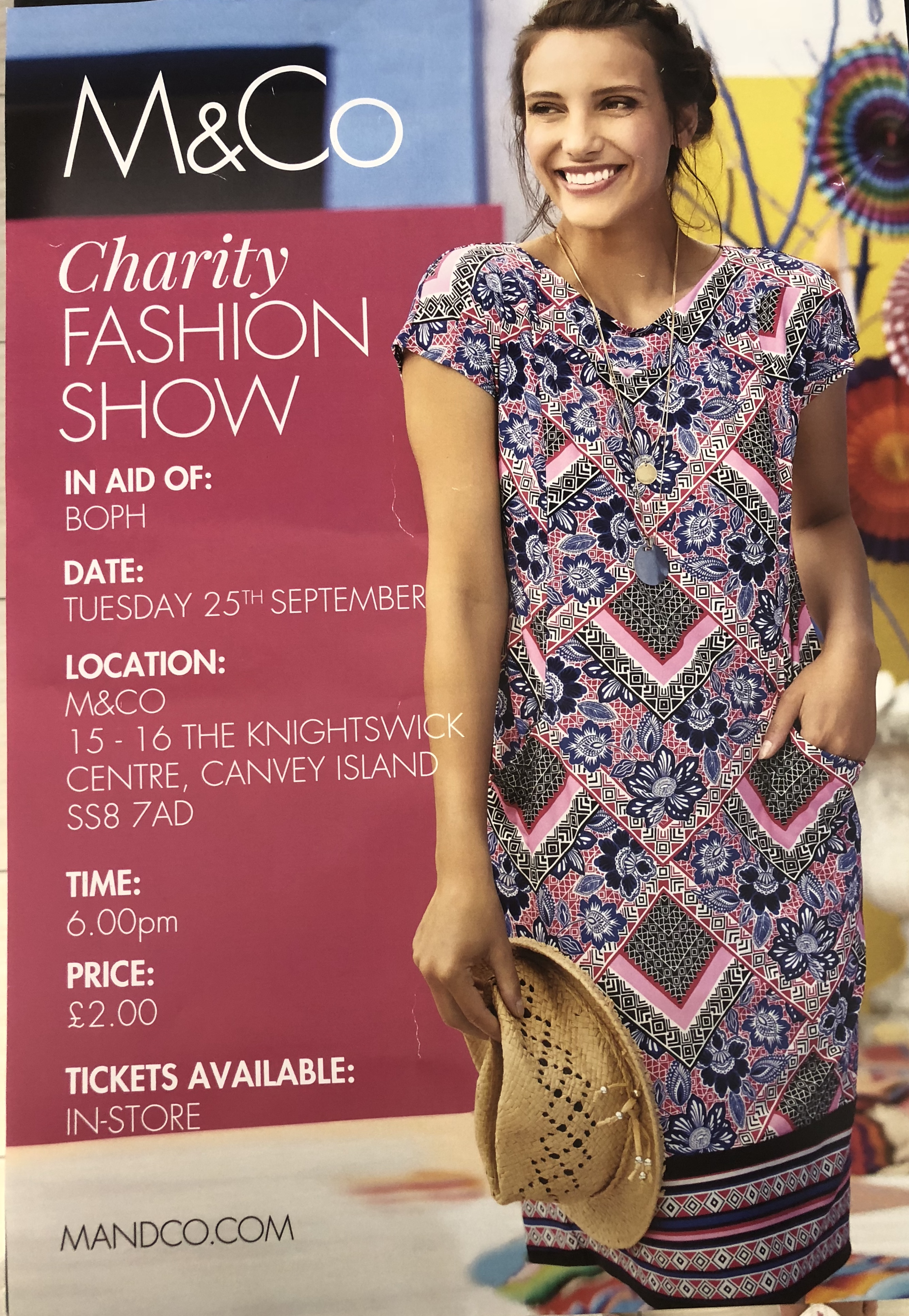Come and Join us for our Fashion Show with M&Co